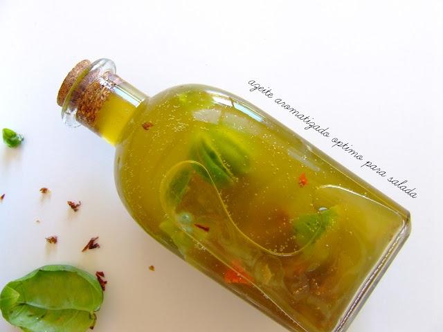 Azeite aromatizado para saladas