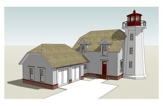 Lighting up plan 64-168: Coastal Homes, Home Plans, Beach House, Lighthouses, Garage, Square, Bedroom, Cape Cod, House Plans