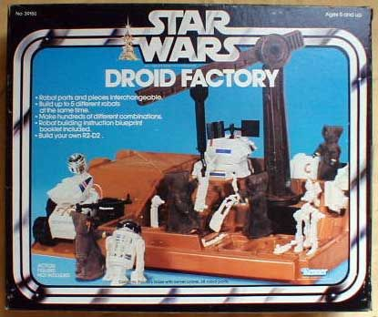 STAR WARS DROID FACTORY: A cross between Star Wars action figures and a Lego set.