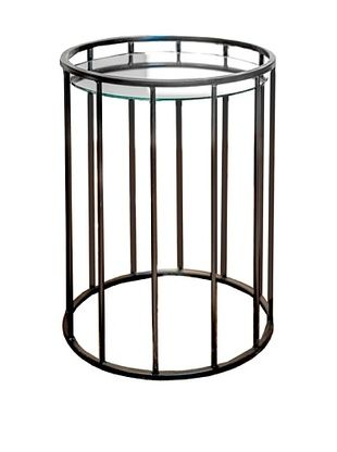 53% OFF Winward Dayton Iron & Glass Nesting Tables, Brown