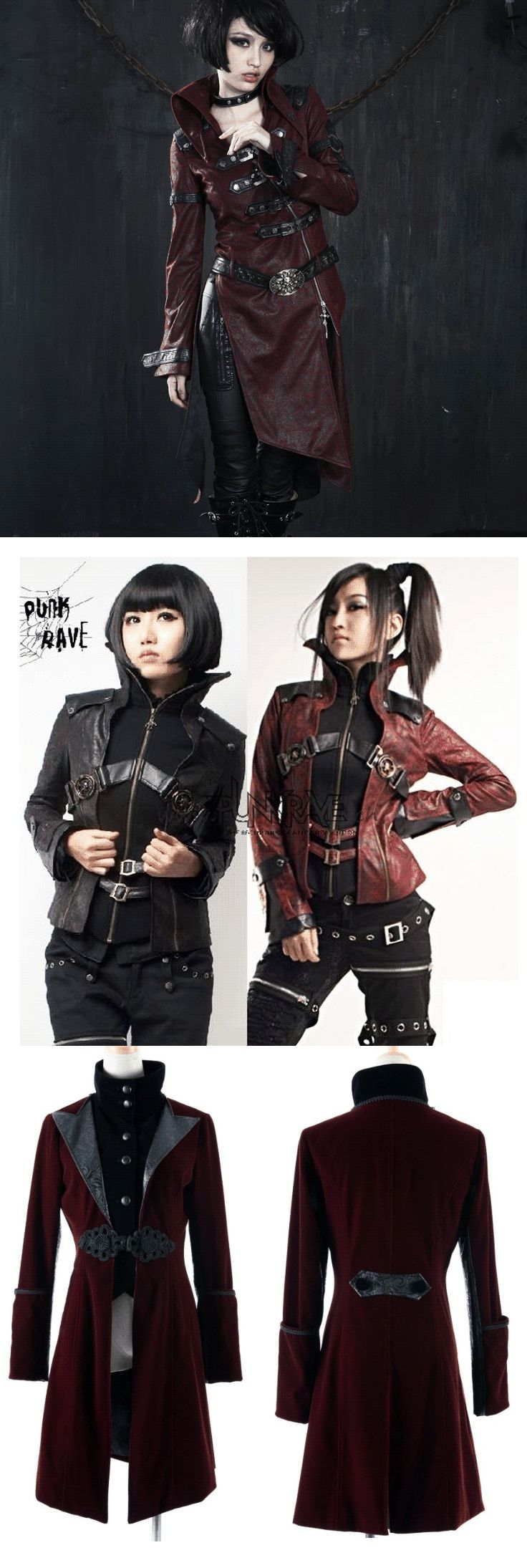 Shop goth steampunk coats and jackets at RebelsMarket.
