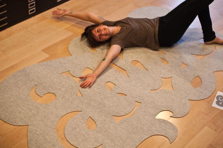 Doodle tapijt zelf maken.