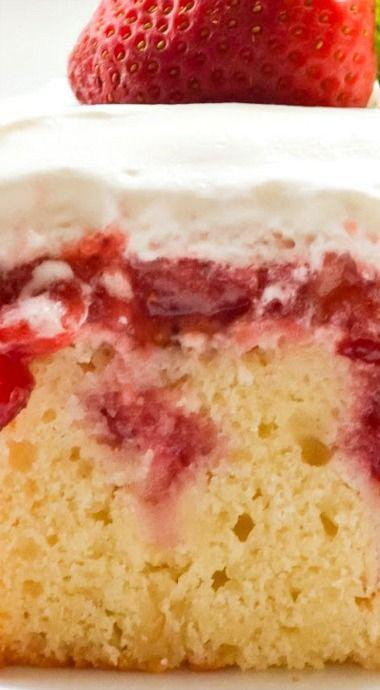Strawberry Shortcake Poke Cake I've been Dreaming of Strawberry Shortcake all...