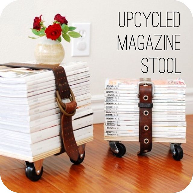 Magazine Stool by WhimZeeCal.com, via Flickr