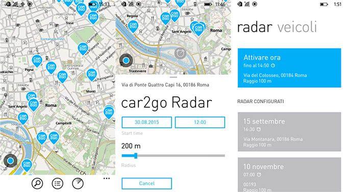 L'app ufficiale Car2Go per Windows Phone si aggiorna portando diverse novità http://www.sapereweb.it/lapp-ufficiale-car2go-per-windows-phone-si-aggiorna-portando-diverse-novita/        Nel mese di settembre abbiamo assistito al rilascio su Windows Phone dell'app Car2Go, l'applicazione della società che fornisce servizi di car sharing in alcune città europee e del Nord America, per quanto riguarda l'Italia a Milano, Torino, Roma e Firenze (L'app ufficiale Car2Go