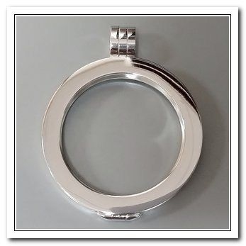 Smoot Silver Tone Coin Holder Pendant - Beautiful NEW Modular Jewelry Collection by CARLO BIAGI  - Add your favorite COINS & Chain to it - Discover the entire collection at JEWELS by REGINA -  http://www.europeartimport.com/coins.html  Free Shipping in USA - I ship worldwide!    $34.00