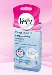 Bande de Cire Visage peaux sensibles de Veet : Fiche complète, boutiques en ligne et 14 avis consommateurs pour bien choisir vos produits Epilation