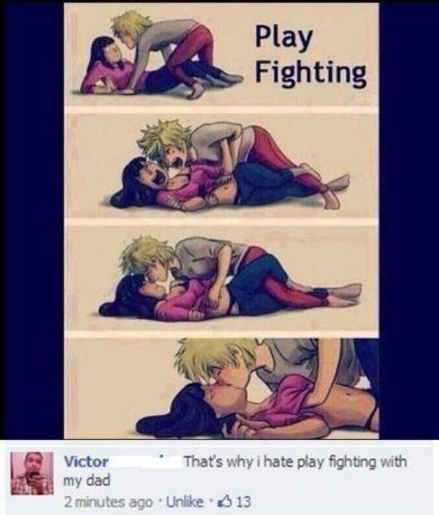 Thats Why I Hate Play Fighting With My Dadbwahaha Hee