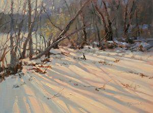 Barbara Jaenicke - Chattahoochee Snow- Oil - Painting entry - May 2014 | BoldBrush Painting Competition