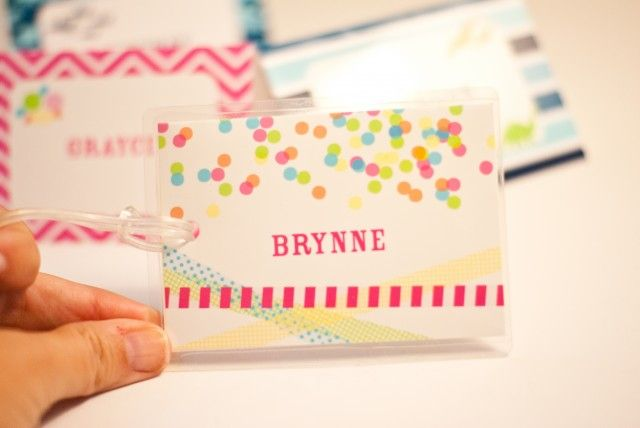 Free Printable Bag Tags for Back to School