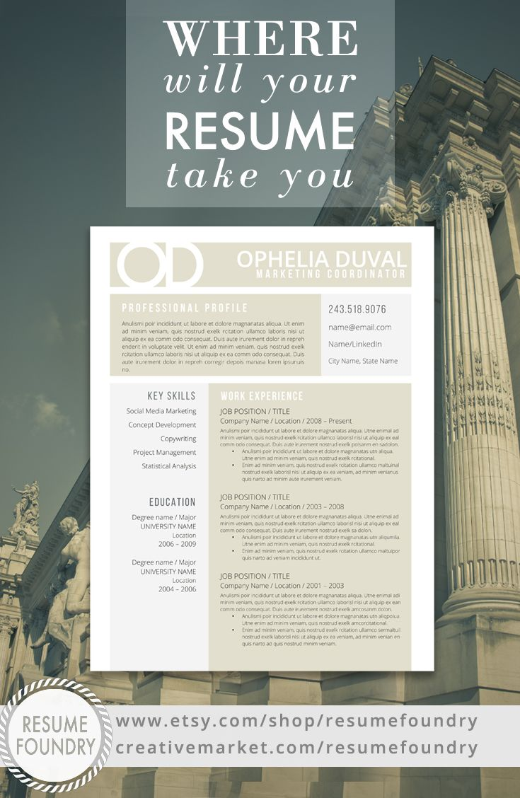 Creative Resume Template the Ophelia 217