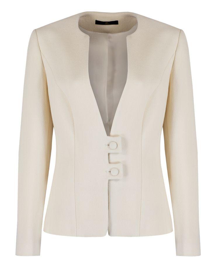 Tailored Wool Crepe Jacket (MA1037) - Myles Anthony