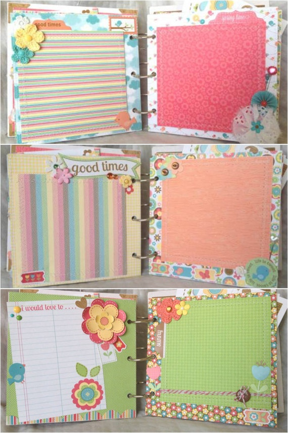 Spring Mini Album 6x6 Premade Chipboard by CandyCoatedWhimsical