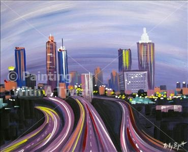 Atlanta Skyline Painting With A Twist Painting With A Twist Ideas
