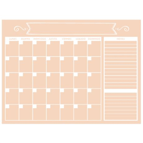Planificador mensual melocotón | Muguet