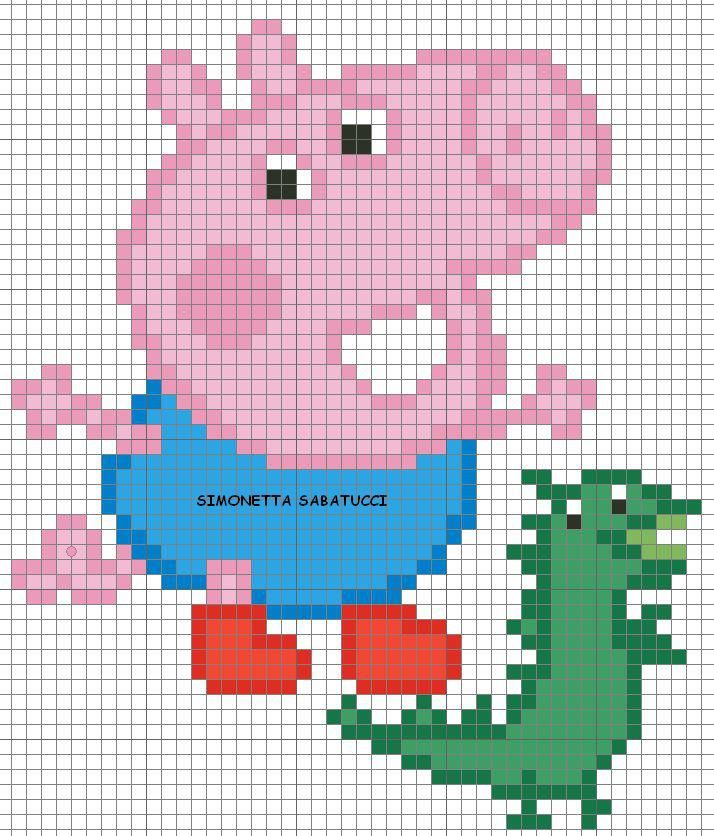 59 best peppa pig images on pinterest peppa pig cross stitch patterns and cross stitches - Fusee peppa pig ...
