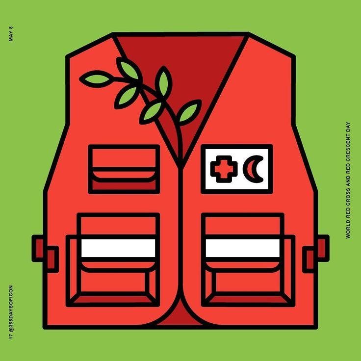 17//365 May 8 🌎 Red Cross and Red Crescent Day ! https://www.instagram.com/365daysoficon/ #365daysoficon #redcross #redcrescent  #peaceandlove #today #day #challenge #world #calendar #icon #iconaday #365challenge #icondesign #adobe #illustrator #vector #pixelperfect #365 #love #positiveenergy #positivevibes #flatdesign #logo #line #colors #branding #design #designstudio #designer #future