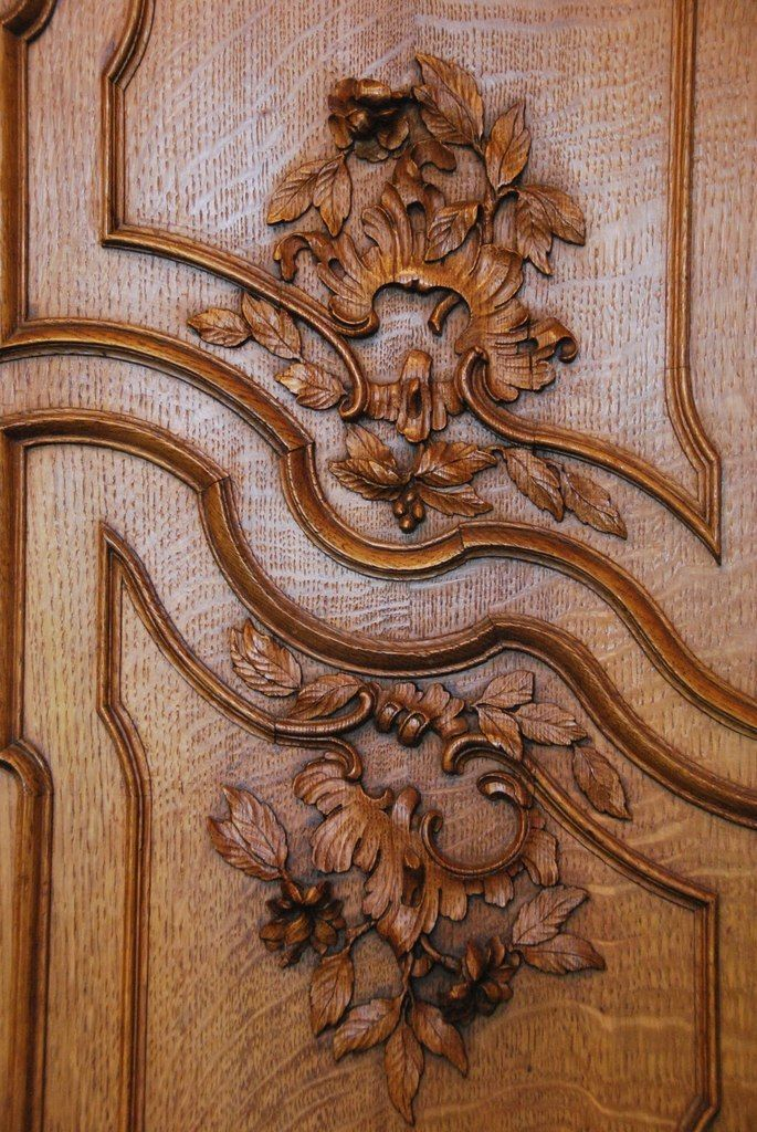 door with roccoco style foliage and shell & 770 best Carved wood doors images on Pinterest | French doors Front ...