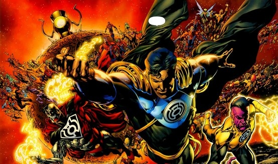 """In blackest day, in brightest night, Beware your fears made into light Let those who try to stop what's right, Burn like my power...Sinestro's might!"" Juramento del Siniestro Corps"