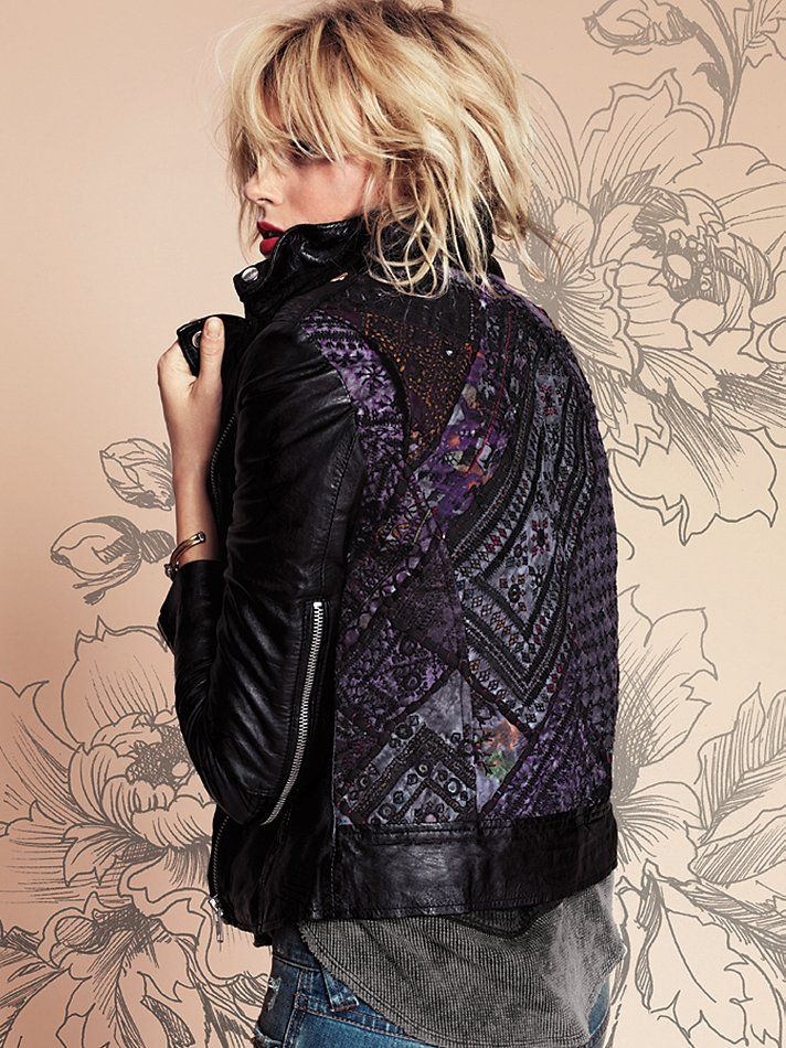 Muubaa Aztec Leather Motorcycle Jacket. LOVE the detail on the back.