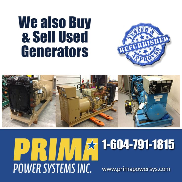 We are a One Stop Supplier for all of your generator needs and all of our equipment is backed by the PRIMA Warranty & Guarantee, which is known worldwide as a the defacto stamp of approval!