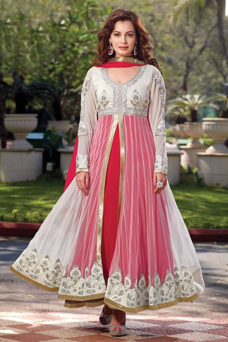 Bollywood Diya Mirza Long Anarkali Stylish Salwar Kameez