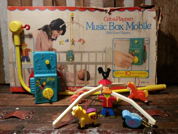 Mobile Crib Musical Vintage 70 39;s 1973 Fisher Price Baby Crib Mobile By