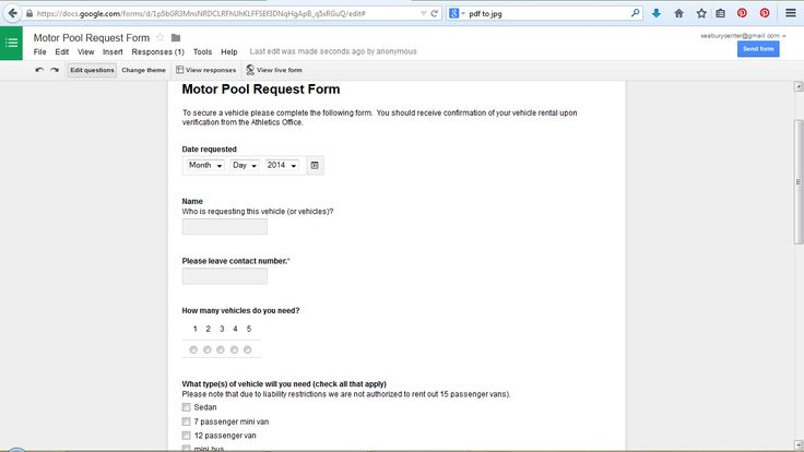 motor pool request form using google forms for coachesu0027 travel - travel request form