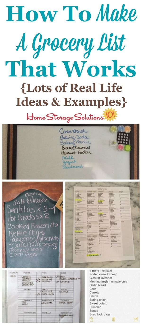 25 Best Ideas about Make A Grocery List – Grocery List Examples