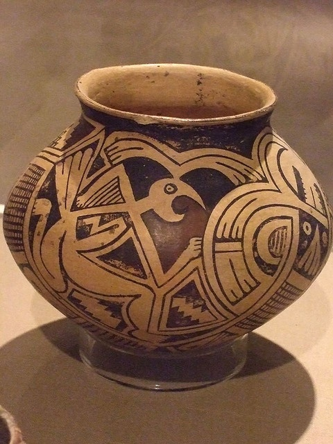 Ceramic Jar Ramos Polychrome type Mogollon culture Casas Grandes people Chihuahua Mexico 1280-1450 (1) by mharrsch, via Flickr