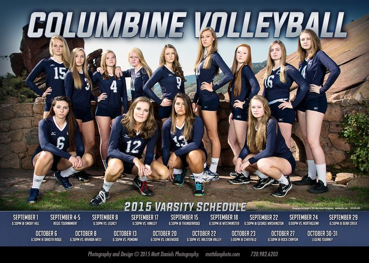 2015 Columbine High School Varsity Volleyball Team Photo