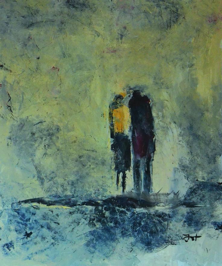 Iwona Ostrowska, zima, olej na płótnie, 120x100 cm.