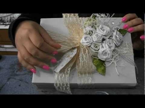 DIY: Flores de caixa de leite, craft flower, vintage peper roses - YouTube