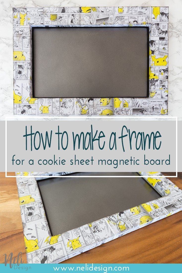 Cadre Photo Magnet Diy Frame For A Cookie Sheet Magnetic Board Diy All Things Diy