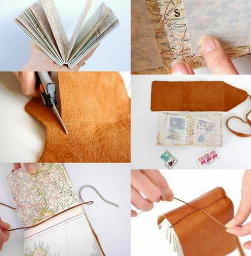this is a diy stamp collecting book, but could also be a great travel journal!