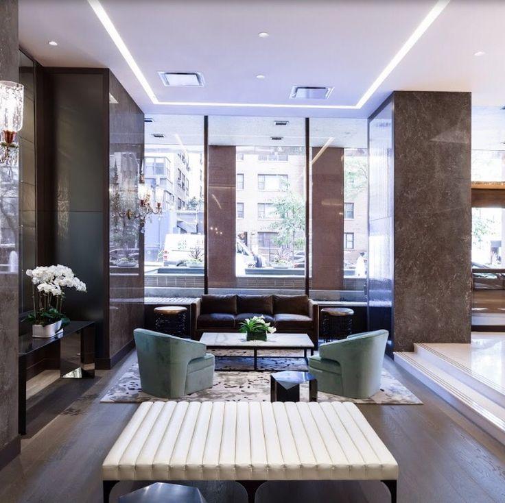 Plaza 400 lobby lounge area design plaza400 interiordesign luxuryinteriordesign luxurydesign lobby loungenycnew york city