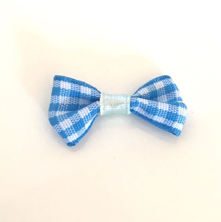 10, blue gingham bows, blue plaid bows, blue bows, gingham ribbon bows, gingham check bows, bows uk, cardmaking bows, craft supplies uk by Buttonsheduk on Etsy