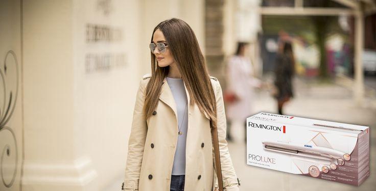 Få chansen att testa Remington PROluxe plattång som med den nya intelligenta OptiHeat-tekniken ger dig ett hållbart rakt hår som ser friskt och vackert ut
