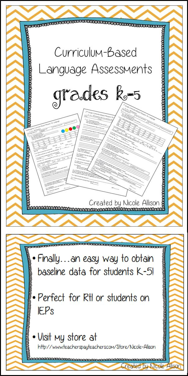 Obtain language baseline data easily for your students. Questions aligned with over 50 Common Core Standards! Quick and easy to administer-simply read questions and record student answers.