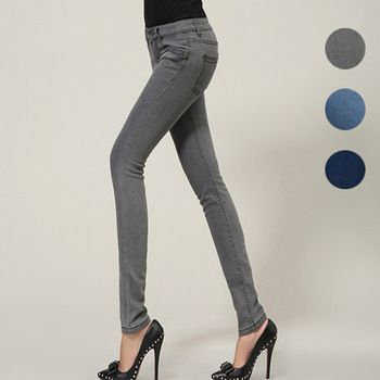 Free Shipping New Fashion Slim Skinny Was Thin Mid Waist Washed Cotton Wome Pencil Jeans 2013 Autumn Spring 185