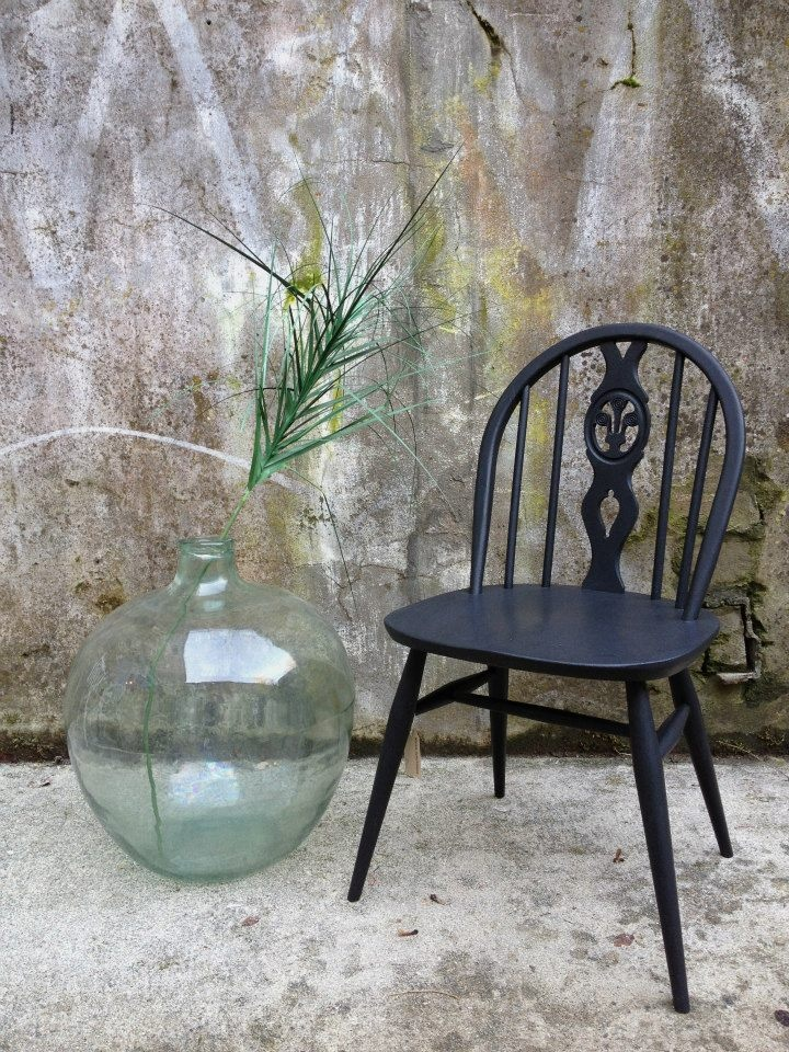 16 best images about painted ercol on pinterest painted for Painted kitchen chairs