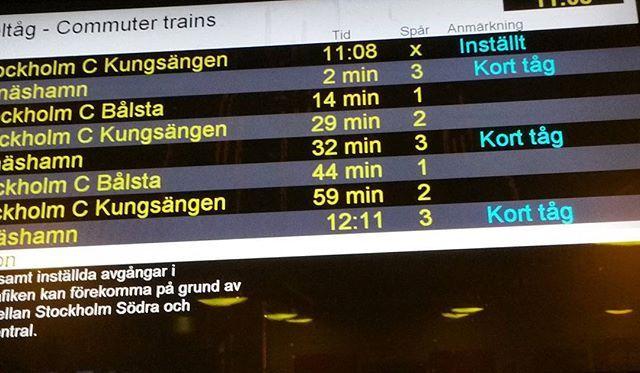 Ahhh! #inställt #tåg #reserpårutin