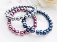 Colorful stretchy pearl bracelts