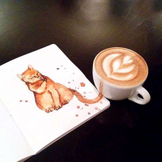 Les artistes sont souvent inspirés par leurs plus grandes passions. Celles de l'artiste russe, Elena Efremova, sont les chats et le café. Elle a donc associé des peintures de chats à différents types de café.  Allongé, cappuccino, espresso avec nuage de lait, espresso classique… chaque style de café a sa saveur et sa couleur, tout comme chaque chat a sa personnalité. Ainsi Elena s'inspire du café qu'elle boit et peint un chat, reliant littéralement les 2 d'un coup de pinceau et laissant...