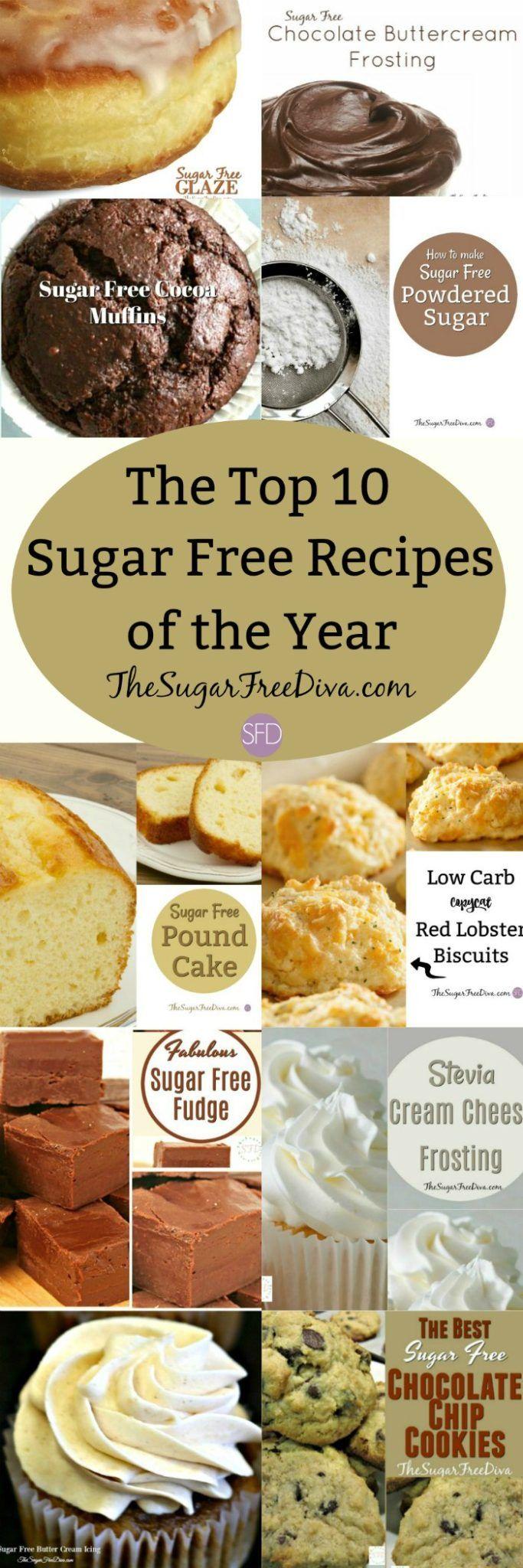 The Top 10 Sugar Free Recipes of the Year #sugarfree #recipes #sugarfreerecipe #dessert #popular #yummy