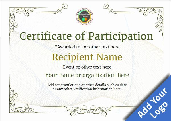Certificate Of Participation Pdf Elegant Participation C Certificate Of Participation Template Certificate Of Participation Certificate Of Achievement Template