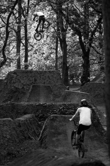 BMX  turndown at the dirt jumps
