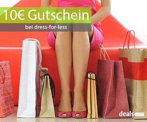 Sichert euch nur noch bis Montag dem 20. Oktober einen 10€ Gutschein bei dress-for-less! Den Gutscheincode findet ihr unter: http://www.deals.com/dressforless