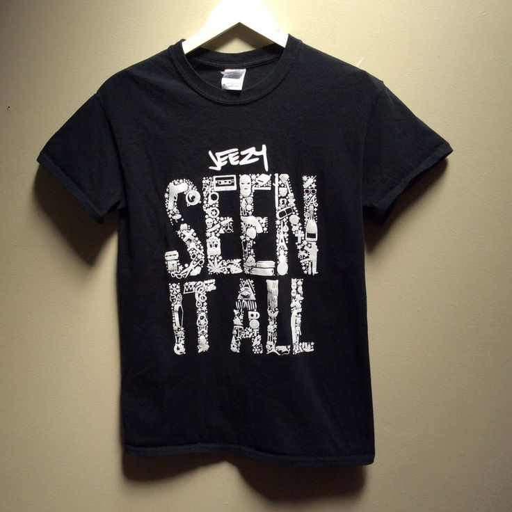 "YOUNG JEEZY ""SEEN IT ALL"" 2014 DEF JAM RAP Hip Hop BLACK T Shirt Small #Gildan #GraphicTee"