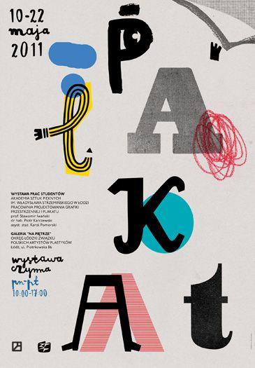 Plakat asp typo poster by Aleksandra Niepsuj http://www.typographicposters.com/aleksandra-niepsuj/#